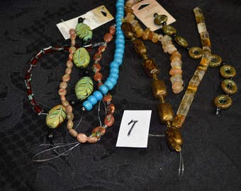 9 Strands of Various Beads