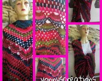 colorful warm shawl
