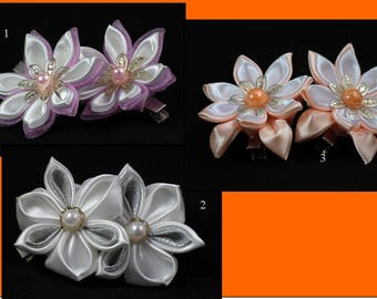 Flower hair clip / Hair band /Hair clip / Flower hair clip / Kanzashi flower hair band / Girl hair clip