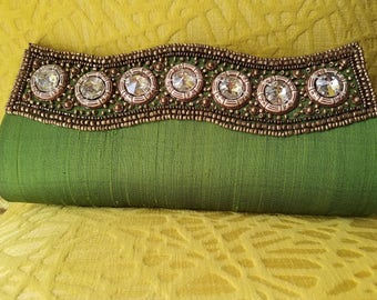 SALE SALE SALE Green Evening Bag And Clutch