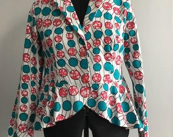 Ankara peplum jacket size 14