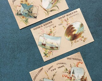 1882 Victorian trade card calendars