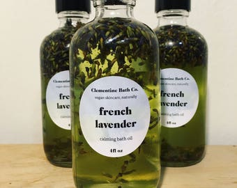 calming french lavender bath oil