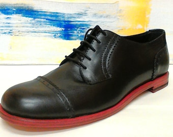 Derby calfskin with leather sole