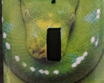 Green tree python light switch covers