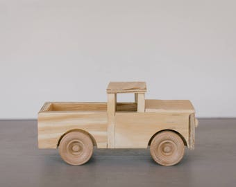 Handmade Toy Wooden Truck, Made to Order, Choose Colors