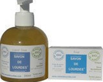 Liquid soap heavy cream with organic argan oil and water of Lourdes