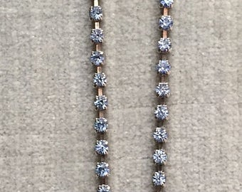Vintage, Faceted and set Blue Rhinestone, choker