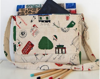 SALE - all items REDUCED!  Kids messenger bag, across the body bag, travel bag, artists satchel, purse
