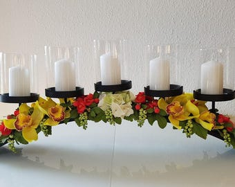 Candlesticks, candle holders, gift, flower candle holder