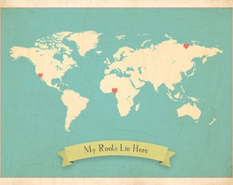 USA Wall Map My Travels Personalized USA Wall Map Art Print - Us map picture frame