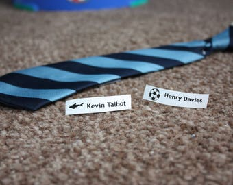 Personalised IRON-ON clothes LABELS