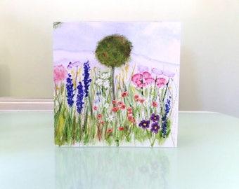 Wildflower garden card