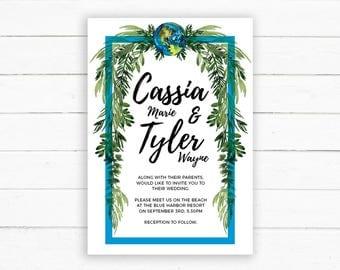 Boho Gypsy Wedding Invitation