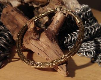 Bracelet viking en laiton tressé - Brass viking knit bracelet