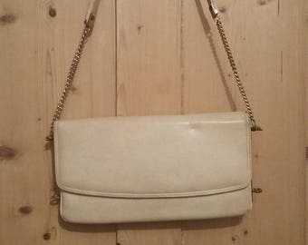 Vintage 70's ivory handbag/shoulder bag