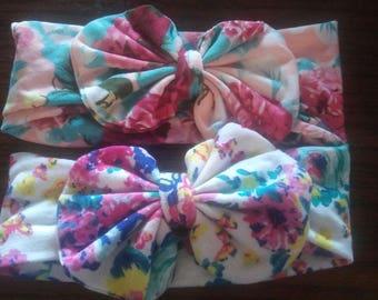 Messy bow headband