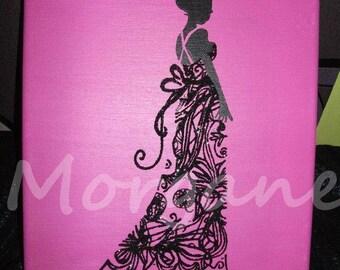 """Canvas """"lace dress"""""""