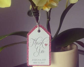 Fully assembled Thank You tags (50 total)