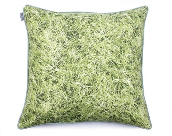 Green Grass Pillow Spring Pillow Handmade Pillow Designer Pillow High Quality Pillow Bedding Decor Pillow Pillowcase Pillow Cushion