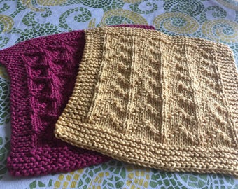Dishcloths knitted by hand