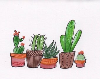 Cactus Buddies (print)