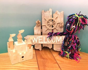 yarn octopi made with 4 ply yarn