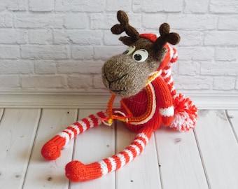 Toy Fawn Knitted toy deer Amigurumi fawn Kids Gift Nursery Decor deer Toy Plush fawn crochet moose toy stuffed deer doll stuffed fawn plush