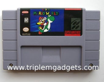 Super Mario World - Super Nintendo NTSC Reproduction Cartridge