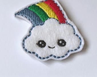 Rainbow Cloud Feltie