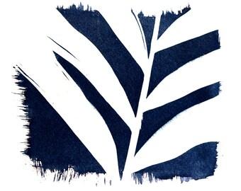 cyanotype, leaf