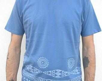 100% Organic cotton handprint Tshirt man