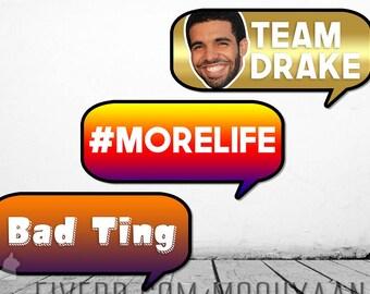 Drake Photo Booth Props (Digital Copies)