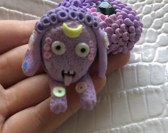 Leyla-- Adorable polymer clay FizzBud creature