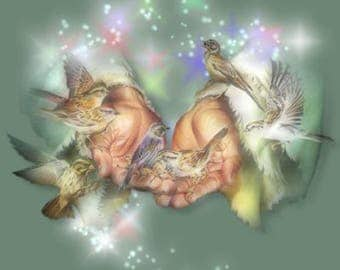 Birds In Gods Hands Cross Stitch Pattern***L@@K***