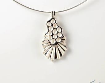 "Pendant in Sterling Silver ""Seaweed PE1"" height 35mm - by IrisBiu. Jewelry handmade in France."