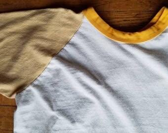 Vintage Baseball T Shirt, 3/4 sleeve shirt - size M #214