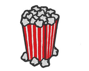 popcorn bag of pop corn Embroidery file Digital embroidery files Machine embroidery