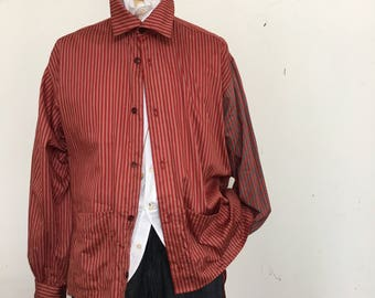 stripe long tail shirts