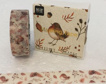Kawaii Forest Bird Washi Tape
