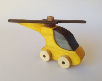 Wooden toy helicopter,Handmade,Non toxic finish