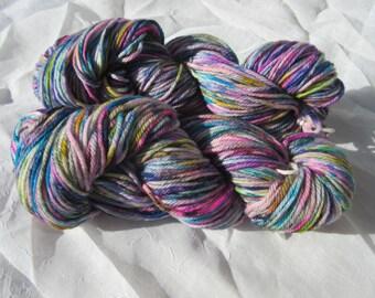 Confetti Hand-dyed Yarn, Superwash Merino Wool, Worsted Weight