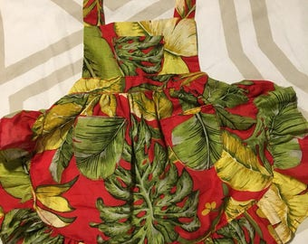 Baby Red Tropical Apron