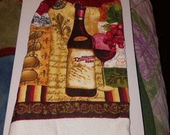Wine bottle hand towel