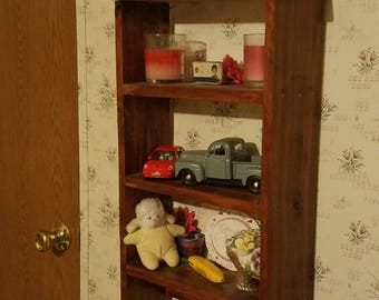 Cedar knick knack shelf