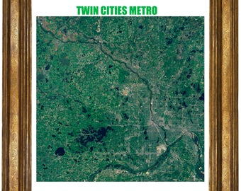 Very large highly detailed poster of The Twin Cities Metro