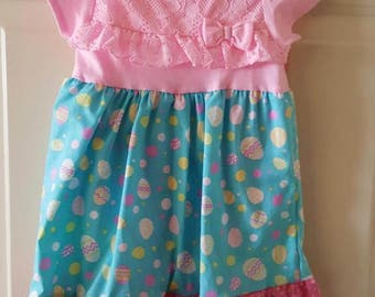 Raster onesie dress, size 10 month
