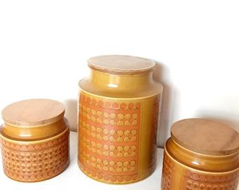 Vintage Hornsea Saffron Canisters