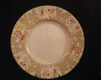 """Woods Burslem """"Forest Flowers"""" Dinner Plate 1930's"""