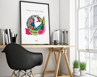 Foil print, sheet printing, mandala, art wall, decoration, printable, Flowers, printed sheets, nature print